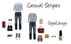 """Casual Stripes"" by homestyledesigner on Polyvore featuring Levi's, HANIA by Anya Cole, J.Crew, Dune, FitFlop, 3.1 Phillip Lim, Michael Kors, Chan Luu, GUESS and Chanel"