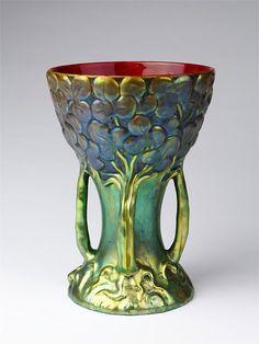 Zsolnay Ceramic Works, Vase, c.1900 (source).