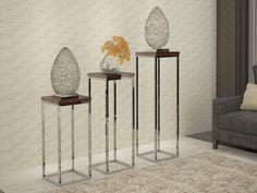 Colonne piedestal, mod: INOX Furniture, Decoration, Home Decor, Contemporary Furniture, Coffee Tables, Oak Tree, Steel, Natural Wood, Decor