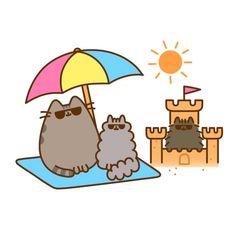 """It's the final day in the sun for the Summer 2017 Pusheen Box! Don't get left alone in the sand as…"" Cute Animal Drawings Kawaii, Kawaii Drawings, Gato Pusheen, Pusheen Stormy, Nyan Cat, Cat Wallpaper, Cute Friends, Cute Cartoon Wallpapers, Cat Drawing"