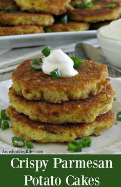 Crispy Parmesan Potato Cakes Recipe. Have leftover cooked potatoes? Try this easy, tasty leftover mashed potato recipe! These Crispy Parmesan Potato Cakes are delicious for breakfast, lunch or dinner and make good use of leftover mashed potatoes. Your family will love them.