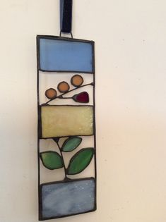 Little Summer Stained Glass Suncatcher Stained Glass Suncatchers, Stained Glass Projects, Stained Glass Art, Stained Glass Patterns Free, Watercolor Texture, Watercolour, Glass Artwork, Glass Ornaments, Tiffany