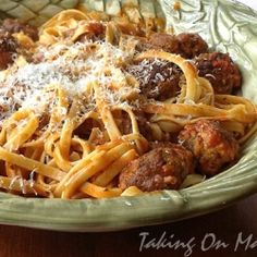 Garlicky Meatball Pasta by TakingOnMagazines
