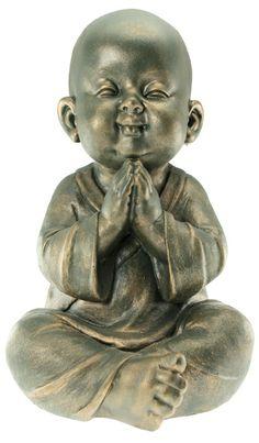 Little monk art ☸️ Baby Buddha, Little Buddha, Buddha Garden, Buddha Zen, Buddha Decor, Buddha Tattoos, Buddha Statues, Happy Hippie, Egyptian Symbols