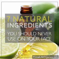 #Natural  #Skincare  7 Natural Ingredients