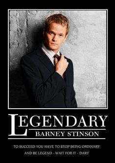 Please note that my crush is on Barney Stinson...not Neil Patrick Harris himself.