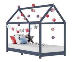 Kids Bed Frames, Wooden Bed Frames, Toddler Furniture, Bed Furniture, Floor Bed Frame, Wooden Tree House, Hanging Beds, Bed Curtains, Childrens Beds
