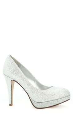 Deb Shops #Glitter High Heel with Small Platform and Round Toe $20.93