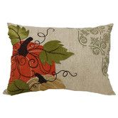 Found it at Wayfair - Pumpkin Embroidered Suede Accents Polyester Lumbar Pillow
