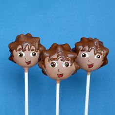 12 Cake Pops inspired by Go Diego, Dora the Explorer, Nick Jr  - for birthday, party favors, cake topper, centerpiece display