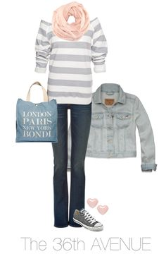 Pink and Gray Fall Outfit.
