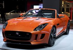 Jaguar F-TYPE at the Shanghai Auto Show 2013. Jaguar F-TYPE is a two-seater sports car and is Jaguar's new 'icon'.