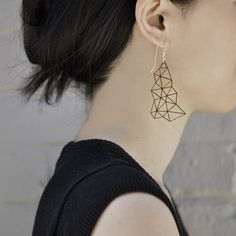Delaunay Earrings - CUT by Yumi Endo | http://adornmilk.com