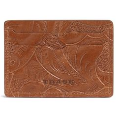 Men's Trask 'Jackson' Italian Steer Leather Card Case ($65) ❤ liked on Polyvore featuring men's fashion, men's bags, men's wallets, tan, mens leather card case wallet, mens wallets, mens leather credit card holder wallet, mens card case wallet and mens card holder wallet