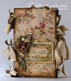 Scrap Obsession. Guest wedding book.