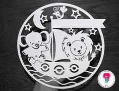 Elephant Lion & Boat Paper Cut Template SVG / DXF par DigitalGems