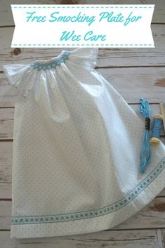 A free smocking plate to use for Wee Care, preemies or other charitable sewing. Smocking Plates, Smocking Patterns, Sewing Patterns Free, Sewing Tutorials, Sewing Projects, Smocking Tutorial, Skirt Patterns, Dress Tutorials, Coat Patterns