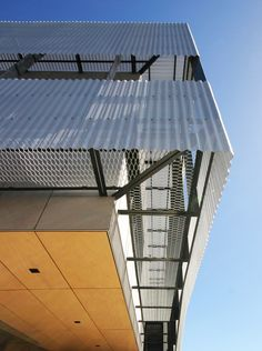 Image 8 of 29 from gallery of Sanwell Office Building / Braham Architects. Courtesy of Braham Architects Building Skin, Building Facade, Building Design, Industrial Architecture, Architecture Office, Architecture Details, Metal Cladding, Metal Facade, Facade Design