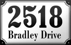 Enamel Address Plaque 7.1 x 11.1 by enamelsign on Etsy, $249.00