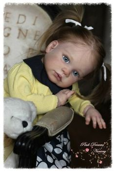 Gabriela Toddler by Regina Swialkowski & cloth body & chest plate - Online Store - City of Reborn Angels Supplier of Reborn Doll Kits and Supplies
