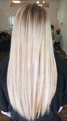 Rubio extra claro #BlondeHairstylesLong