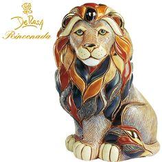 De Rosa Rinconada - Majestic Lion Figurine handmade porcelain in giftbox | eBay