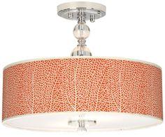Chrome Seafan Coral Stacy Garcia Semi-Flush Ceiling Light -
