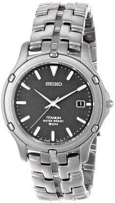 AmazonSmile: Seiko Men's SLC033 Le Grand Sport Titanium Watch: Seiko: Watches