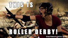 This is Roller Derby meme By the Slam Damsels of C-Max Roller Derby in Johannesburg, South Africa. https://www.facebook.com/SlamDamsels