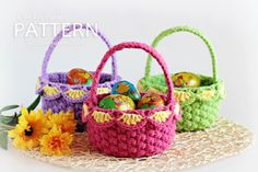 New Pattern ~ Crochet Baskets