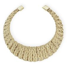 Weaved collar gold