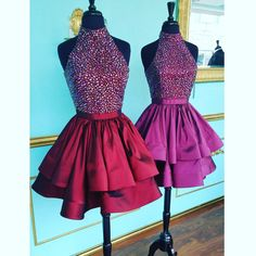 halter short prom dresses homecoming dresses graduation party dresses on Storenvy