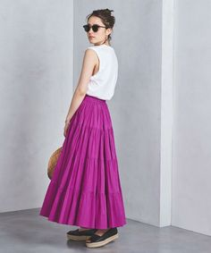 【UNITED ARROWS】スカート特集☆夏のお気に入りスカートを見つけよう! Street Chic, Street Style, Tiered Skirts, Korean Fashion, High Waisted Skirt, Tulle, Girly, Normcore, My Style