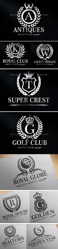 Heraldic Crest Logos #design Download: http://graphicriver.net/item/heraldic-crest-logos-vol-6/12265194?ref=ksioks