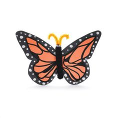 """Monarch Butterfly craft...totally going to use this to make a display about the book """"Flutter""""!"""