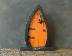 Witch Fairy Door Wooden Fairy Door от HandmadebyCarolynMee