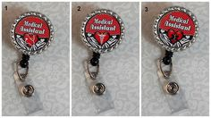 Bottle Cap ID Reel  Medical Assistant Red by Cool2BeChic on Etsy, $4.25