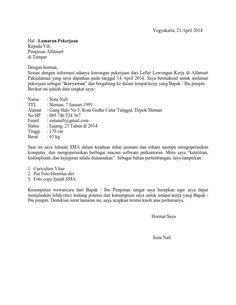 5 Contoh Surat Lamaran Kerja Alfamart