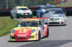 TruSpeed's Porsche GT Leading through the corner at Mid-Ohio