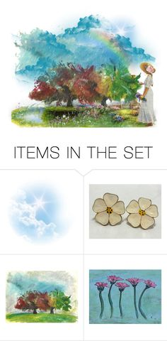 """Spring shower"" by thresholdpaperart ❤ liked on Polyvore featuring art and riagr"