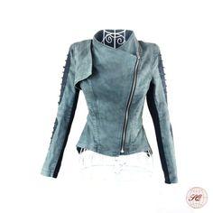 2687f67cb7444 estilo fresco de la mujer de la moda chaqueta de jean-Chaquetas-Identificación  del