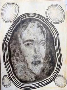 Hans Lemmen: o.T. (HL/P 4), 2011-2015, Ink and Casein on Paper, 30,7 x 23,2 cm