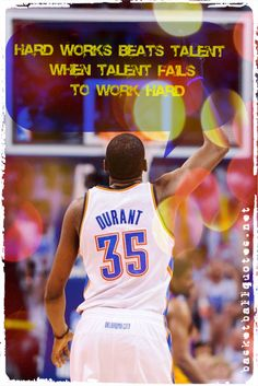 """""""Hard Works Beats Talent When Talent Fails to Work Hard"""" - Kevin Durant -"""