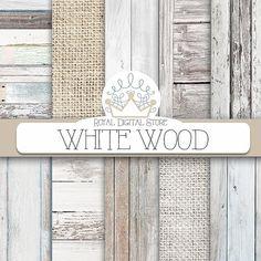 """Legno carta digitale: """"Legno bianco"""" con priorità bassa di legno, struttura di legno bianco, legno rustico, legno carta scrapbook e carte della tela da imballaggio"""