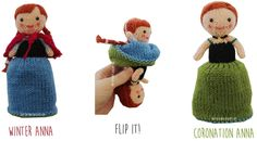 Knitted Toy Box: Anna Frozen Flip Doll - Free Knitting pattern