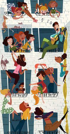 Illustrations And Posters, Children's Book Illustration, Graphic Design Illustration, Graphic Art, Arte Sketchbook, Retro Art, Book Design, Cute Art, Book Art