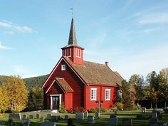 The Dalen church was built from notched logs in It stands on an altitude of 760 meters in Folldal, about halfway between the Foldal administrative center and Hjerkin. Land Of Midnight Sun, Fa, Church Design, Christian Church, Place Of Worship, Logs, Norway, Cathedral, Spirit