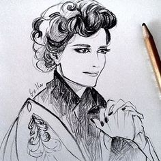 Eva Green drawing