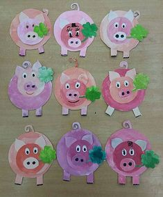 15 Baby Animal Days / Farm Crafts for Kids Pig Crafts, Farm Crafts, Animal Crafts, Diy And Crafts, Crafts For Kids, Paper Crafts, Kindergarten Art Projects, Little Pigs, Elementary Art