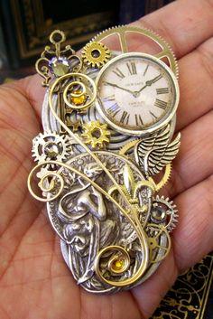 Steampunk Brooch Pin116  Grecian Design  by DesignsByFriston, $42.00 Gorgeous!!!!